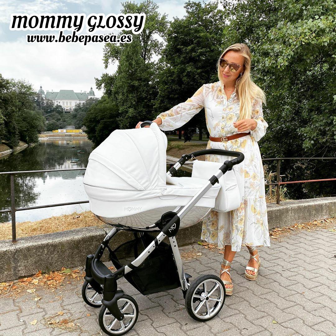 Carrito bebe mommy glossy cuero polipiel