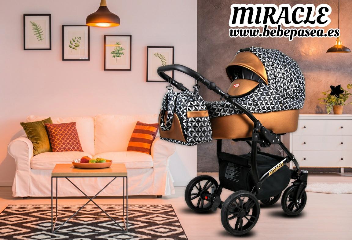 carrito bebe miracle polipiel y oro